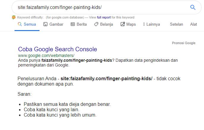 Cara Cek Index Google