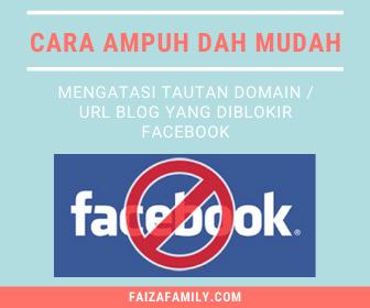 Cara Mengatasi Website atau Domain yang diblokir Facebook